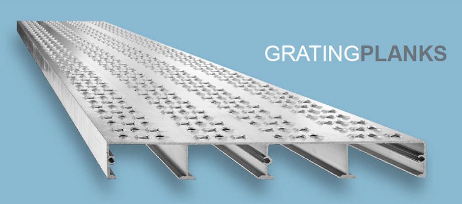 Grating Planks aus Aluminium der WMH GROUP GERMANY