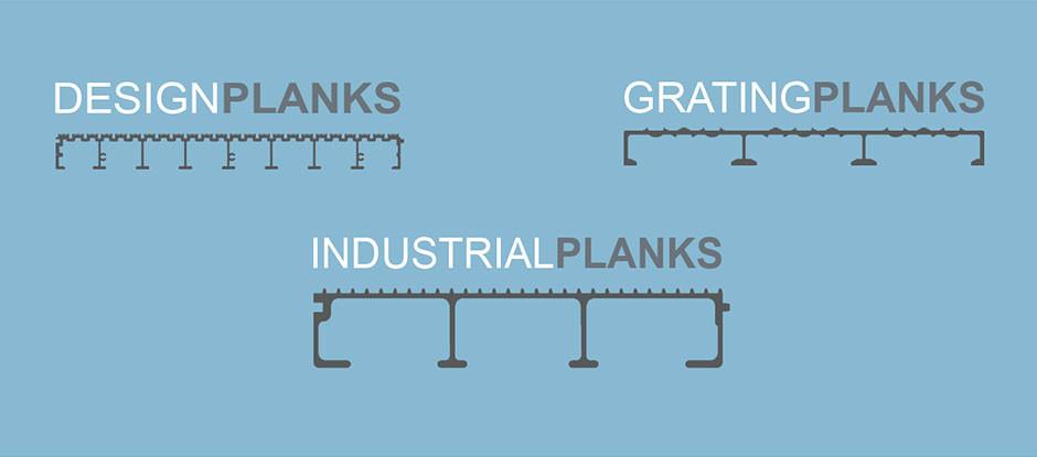Planken aus Aluminium vonWMH GROUP GERMANY